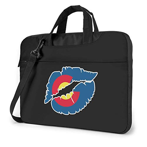 Colorado Flag Lip Laptop Bag Ultrabook Compatible con Bolso de Hombro con Correa,