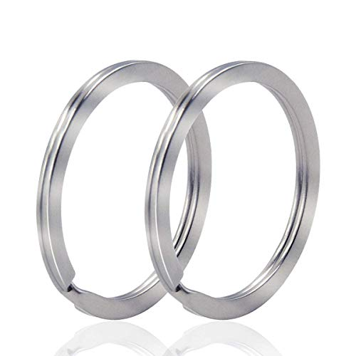 Auerllcy Key Ring - 100PCS, 32mm Nickel Plated Square Edged Split Key Chain Rings for Car Home Keys Organization, Arts & Crafts, Lanyards (100)