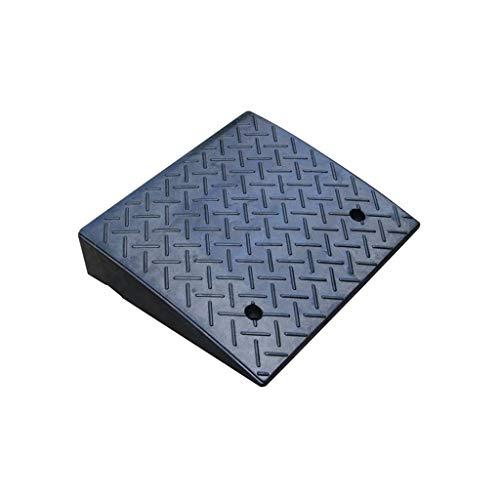 Las rampas de estacionamiento, rampas de Goma Negro Curb Tamaño Paso al Aire Libre de Coches con cuestas Pad discapacitada en la casa rampas for sillas de Ruedas: 48 * 43 * 11 cm