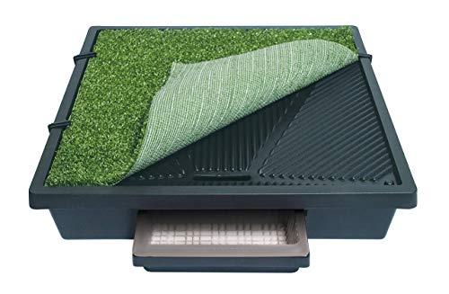 PetSafe Pet Loo mobile Haustiertoilette mit Kunstrasen M, 2 Liter Auffangbecken, 63 x 63 cm, für mittelgroße Hunde