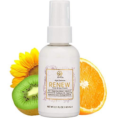 Anti Aging Face Moisturizer Cream – Rejuvenating Face & Eye Cream With Hyaluronic Acid, Jojoba Oil, Green Tea & More - Premium Natural & Organic Skin Care for Wrinkles & Under Eye Bags Era-Organics