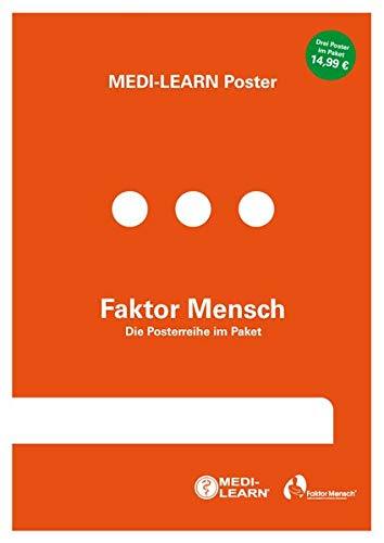 Faktor Mensch - Die Posterreihe im Paket (3 Poster) - MEDI-LEARN Poster