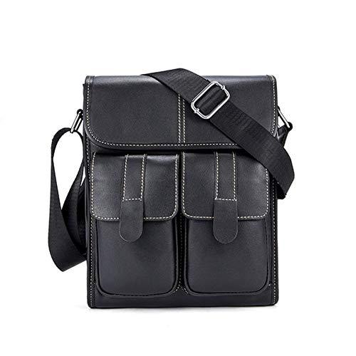 Ai-yixi Klassisches Design Business Aktentasche Herren Reise Schulter Kuriertasche Männlich Dokument Handtaschen Laptop Computer Tasche Diffuses Leder Perfekt Wild (Farbe: 1, Größe: A)