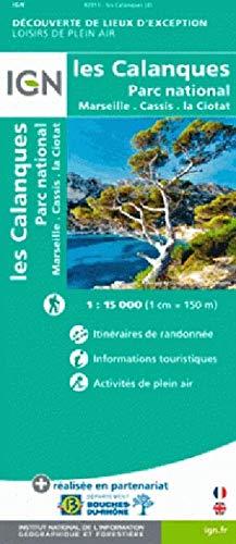 Les Calanques de Marseille à Cassis 1:15 000: Freizeitkarte