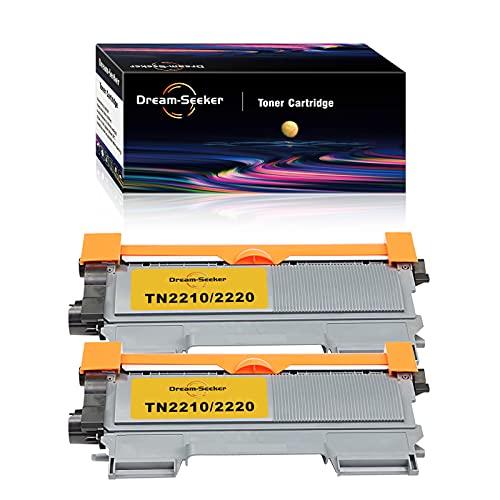 Dream-seeker Kompatibel mit Brother TN2210 / TN2220 Tonerkartuschen für Brother HL-2240 HL-2220 HL-2240D DCP-7060D HL-2250DN MFC-7360N HL-2270DW MFC-7860DW MFC-7460DN (2 Schwarz)