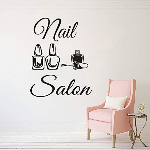Nagel Salon Logo Vinyl Wandtattoos Schönheit Salon Dekoration Maniküre Pediküre Fenster Poster Nail Art Polnische Wohnkultur Wandaufkleber A7 42x54cm