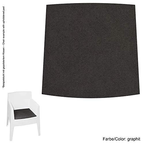 Feltd. Eco Filz Auflage 4mm Simple - geeignet für Driade Toy // - 29 Farben inkl. Antirutschunterlage (Graphit)