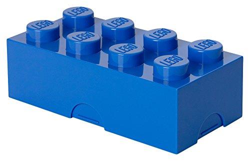 LEGO Brotdose mit 8 Noppen, Kleine Aufbewahrungsbox, Stiftebox, blau