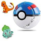 Lunriwis Poké Bolas Pokéball,Bola con Figuras Pokemon,Ball figuritas Poké Bolas Pokéball,Pop Pokemon Ball,Mini Pokemon Poke Ball (Charmander y Bulbasaur)