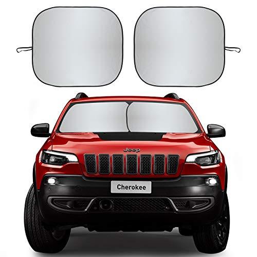 Kribin Windschutzscheiben-Sonnenschutz – verbesserte Windschutzscheibe, Sonnenschutz für UV-Schutz und Hitze-Reflektor, hält Ihr Fahrzeug kühl