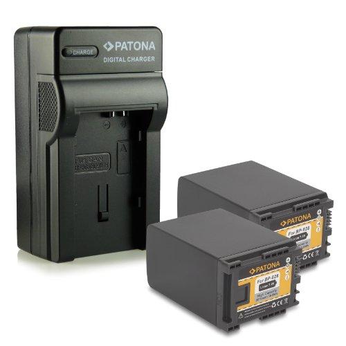 Bundle - 4en1 Cargador + 2x Batería BP-828 / BP828 para Canon Camcorder HF-G30 | XA20 | XA25 - LEGRIA HF-G10 | HF-G20 | HF-G25 | HF-G30 | HF-M30 | HF-M31 | HF-M32 | HF-M40 | HF-M41 | HF-M300 | HF-M301 | HF-M400 | HF-S10 | HF-S11 | HF-S1400 - [ Li-ion; 2670mAh ; 7.4V ]