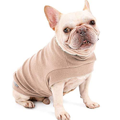 Dociote Hund Pullover - weiche und warm T-Shirt Hunde Frühling Kleidung Mantel Katzenpullover für kleine Hunde Katzen M Beige