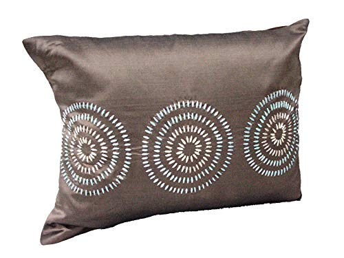 0 www.working-house.com (Textil / Cojines) Funda DE COJIN Cama Sofa Rectangular CIRCULOS
