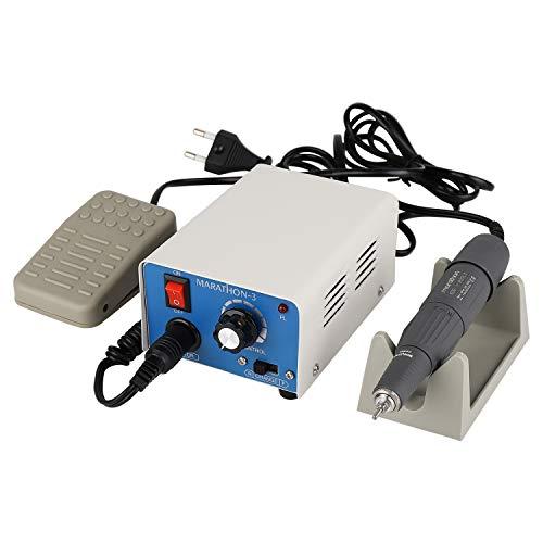 MaquiGra 35000RMP Micromotor de Pulido Pulidora Electrica de Laboratorio Multifunción aplicable para Tallado Nuclear del Arte Grabado de Jade/Joya/Madera/ámbar/Dental Velocidad Ajustable (2.35mm)