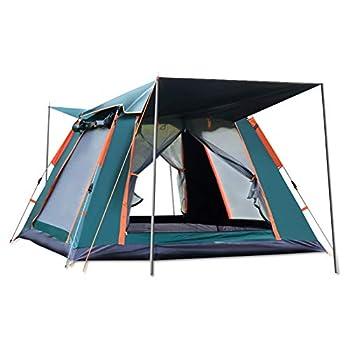 Ergocar Tentes Dôme Double Couche Tente 4 Saison Imperméable Légères Anti UV 3-4 Personnes Camping Tente pour Pique-Nique, Randonnée, Randonnée (Vert, Vinyle)