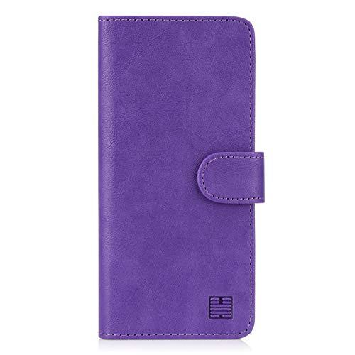 32nd PU Leder Mappen Hülle Flip Hülle Cover für Samsung Galaxy S20 FE 5G (Fan Edition), Ledertasche hüllen mit Magnetverschluss & Kartensteckplatz - Violett