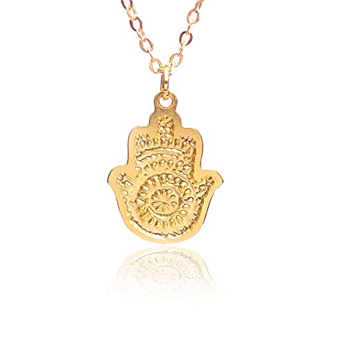 Small Rose Gold Hamsa Hand Necklace, Hebrew Necklace, Rose Gold Hamsa Necklace, Delicate Rose Gold Necklace, Jewelry for Women Packaged and Ready for Gift Giving, Handmade in Israel