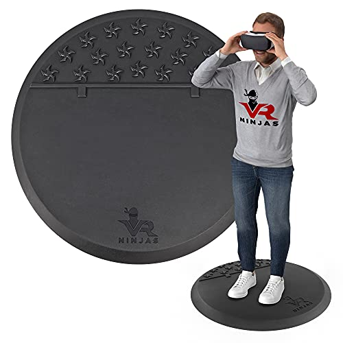 VR Ninjas Virtual Reality Mat for Position Orienting   VR Accessory   Braille for Your Feet!   Improve Your Game   Increase Comfort   Prevent Hitting Objects   Room Scale Play   FR VR XR AR