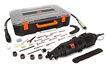 WEN 23103 1-Amp Variable Speed Rotary Tool with 100+ Accessories Carrying Case and Flex Shaft
