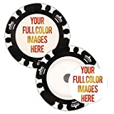Da Vinci 25 Custom Removable Golf Ball Markers with Magnetic Poker Chips Printed in Full Color