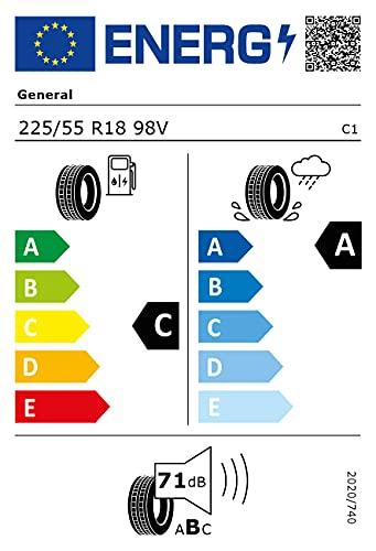 General 80080 Neumático 225/55 R18 98V, Grabber Gt Plus Xl para Turismo, Todas Las Temporadas