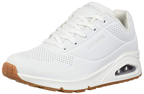 Skechers Women's Uno -Stand On Air Trainers, White (White Wht), 5 UK (38 EU)