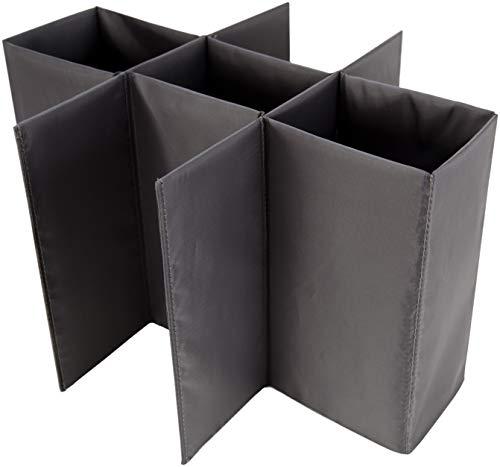 Meori Lot d'étiquettes pour boîtes Pliantes Casier pour 9 Bouteilles Gris
