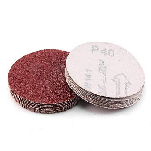 XVCHQIN 10 piezas de disco de lijadora de 2 pulgadas y 50 mm almohadilla de lijado y pulido de papel de lija P40-P2000, P80