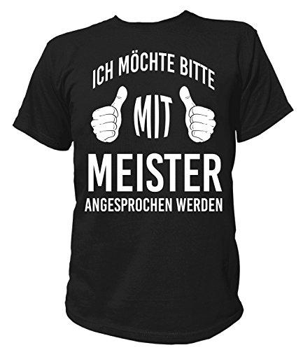 Artdiktat Herren T-Shirt - Ich möchte mit Meister angesprochen Werden Größe XL, schwarz