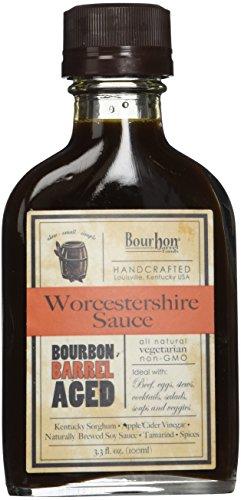 Bourbon Barrel Foods Handcrafted Worcestershire Sauce, 3.3 oz