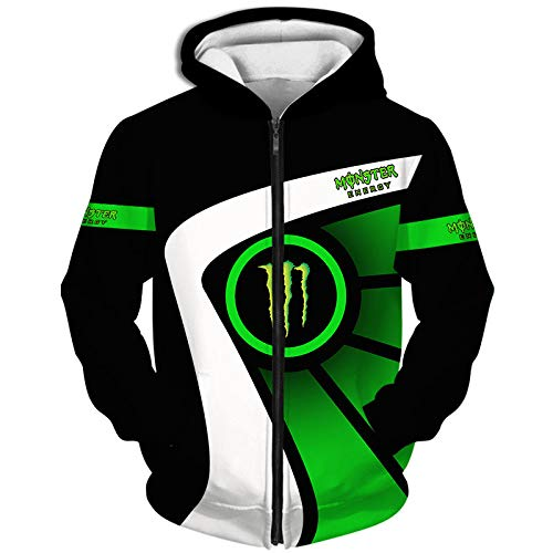 Zum Monster-Energy 3D Voll Drucken Hoodies/Kapuzenpullover,T-Shirt,Jacke,Kurz Keuchen Beiläufig Sweatshirts Sport / B1 / XL
