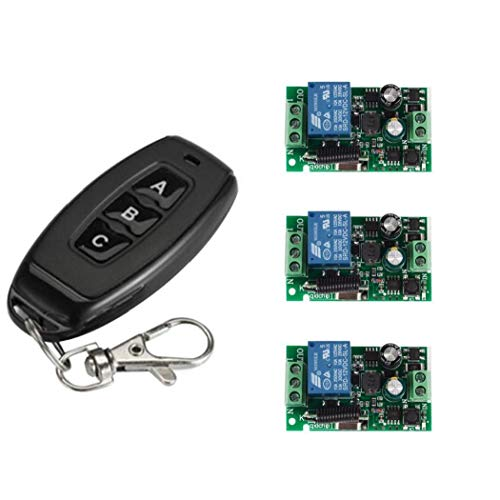 Runfon Empfängermodul Rf Transmitter Set 433MHz Universal AC 110V 220V 1CH drahtlose intelligente Fernbedienung wechseln 4pcs Schalter