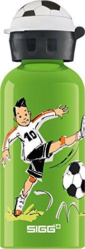 Sigg Footballcamp Borraccia Bambini, 0.4 L, Borraccia Alluminio con Chiusura Ermetica e Priva di Sostanze Nocive, Borraccia Bimbi Super Leggera in Alluminio