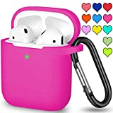 YIATCY Airpods Case Cover Compatible with Apple AirPods 2 & 1, Soft Silicone