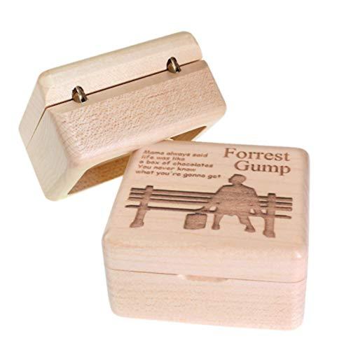 Exquisite Handgemachte Hölzerne Forrest Gump Spieluhr Holz Geschnitzten Mechanismus Spieluhr, Geschenk Für Weihnachten Valentinstag