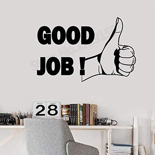 Ajcwhml Buen Trabajo Cita Etiqueta de la Pared Oficina motivación inspiración Frase calcomanía decoración de Interiores Arte Mural extraíble - 54X36CM-54X36CM