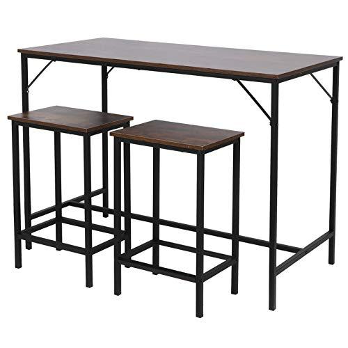 Emoshayoga Taburete de Bar Muebles de Comedor Mesa de Bar Resistente al Desgaste Simple para Oficina Sala de Estar Dormitorio