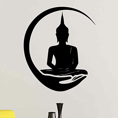 Mano creativa Shakya Muni Buda Budismo Zen Sakyamuni Calcomanía DIY Vinilo Etiqueta de la pared Yoga Dormitorio Sala de estar Decoración Papel tapiz cartel de arte