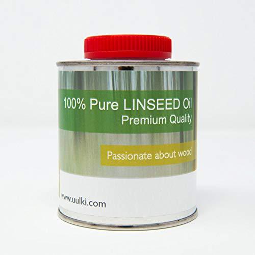 Uulki Aceite de linaza extra puro para protección de la madera -...