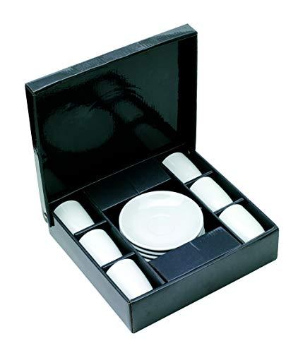 6er Set Espresso Tassen Porzellan Tasse für Kaffee und Espresso mit Tellern, verpackt in Geschenkverpackung von notrash2003