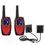 Retevis RT628 Kids Walkie Talkies with BL45 Rechargeable Battery Bundle 1000mAh 22 Channel Toy for Kids (2 Pack)