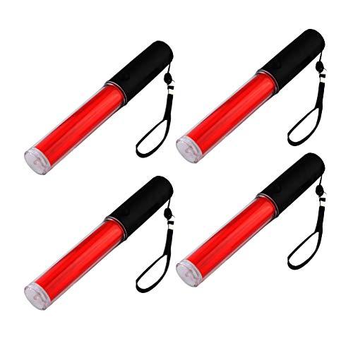 joyMerit Luz de Bastón de Seguridad de Tráfico LED Roja 4pcs 10 Pulgadas