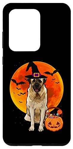 Galaxy S20 Ultra Dog Halloween Anatolian Shepherd Dog Jack O Lantern Pumpkin Case