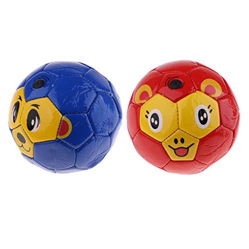 Milageto Balón de Fútbol de 2 Piezas para Niños, Práctica de Entrenamiento Deportivo, Fútbol/Baloncesto/Fútbol