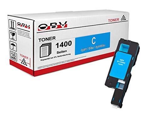 OBV kompatibler Toner cyan für Dell 1250 / 1250C / 1350 / 1350CNW / 1355 / 1355CN / 1355CNW / Große Kapazität 1400 Seiten