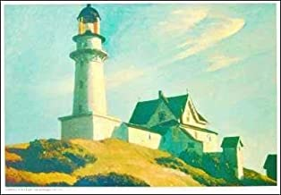 Edward Hopper - Lighthouse at Two Lights NO LONGER IN PRINT - LAST ONE!!