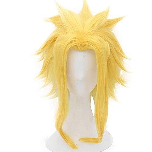 Yamia Cosplay Perruques pour My Hero Academia Cosplay avec bonnet de perruque gratuit (All Might)