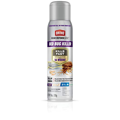 Ortho Home Defense Max Bed Bug Killer - Bed Bug Killer Spray Kills Pyrethroid-Resistant Bed Bugs, Also Kills Fleas & Brown Dog Ticks, Use as Spot Treatment on Bed Frames, Headboards, Carpeting, 18 oz.