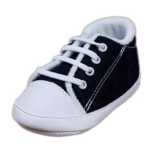 Babyschuhe Sportschuhe coole Krabbelschuhe Jeans dunkel Schnürer Gr. 20 Modell 3191/247