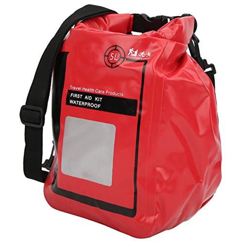 Bolsa de Supervivencia 5L Estuche de Almacenamiento de Supervivencia pequeño Kit de Primeros Auxilios Bolsa de Equipo de Supervivencia Mochila de Primeros Auxilios para Senderismo al Aire Libr